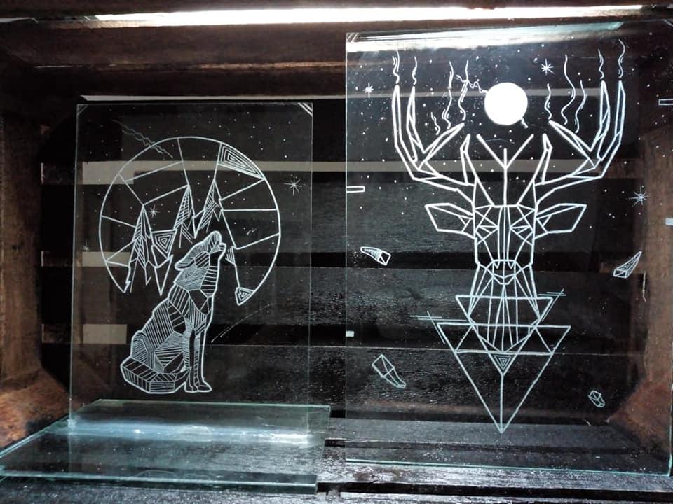 Tallado en vidrio