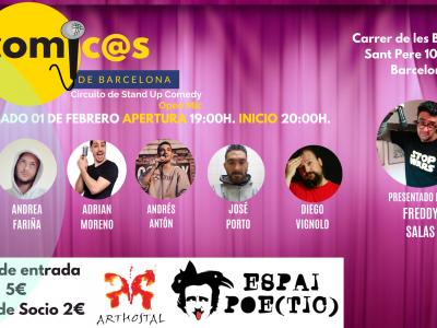 Sábado de Monólogos. Cómicos de Barcelona 01-02-20