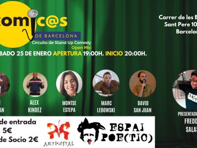 Sábado de Monólogos. Cómicos de Barcelona 25-01-20