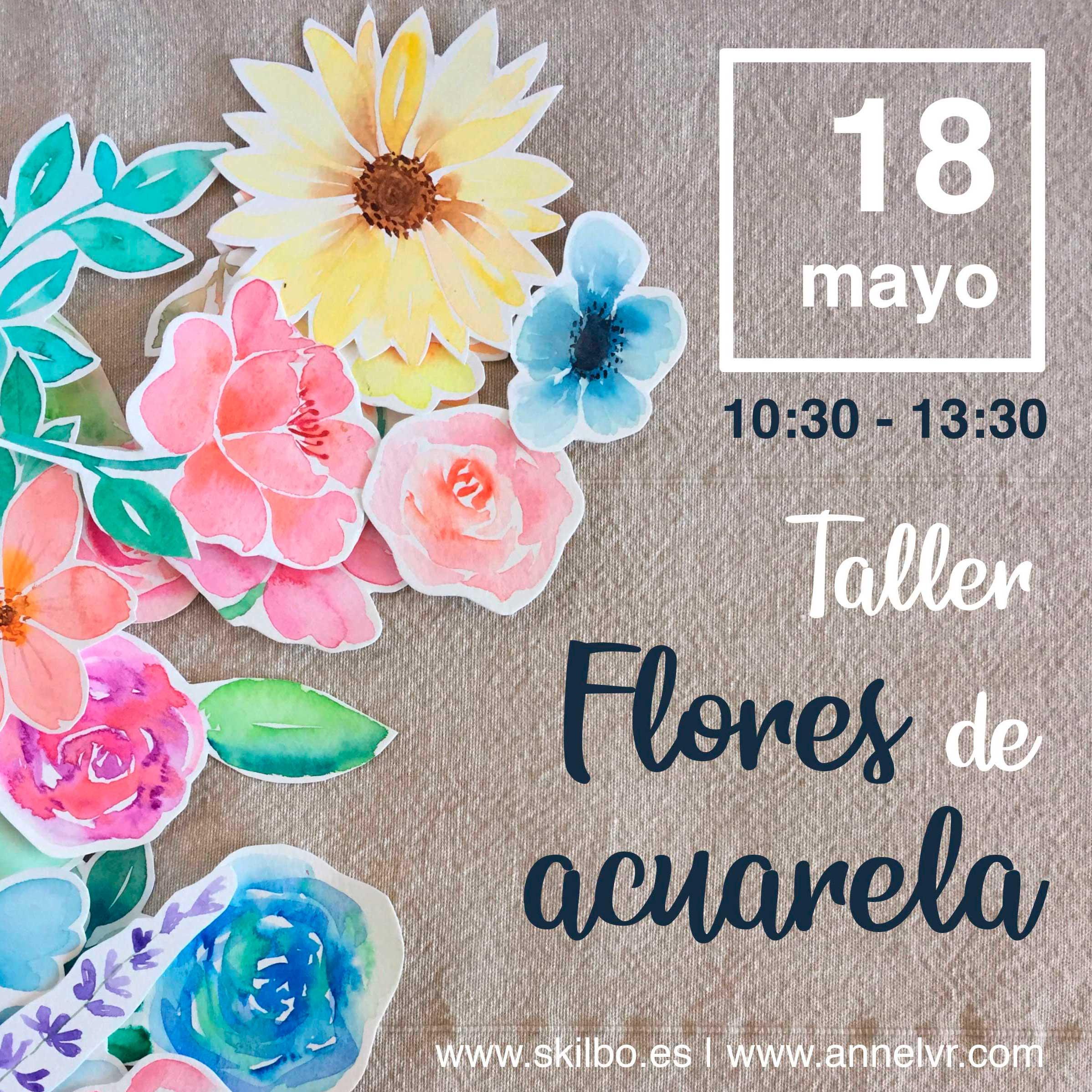 Flores de Acuarela – Taller