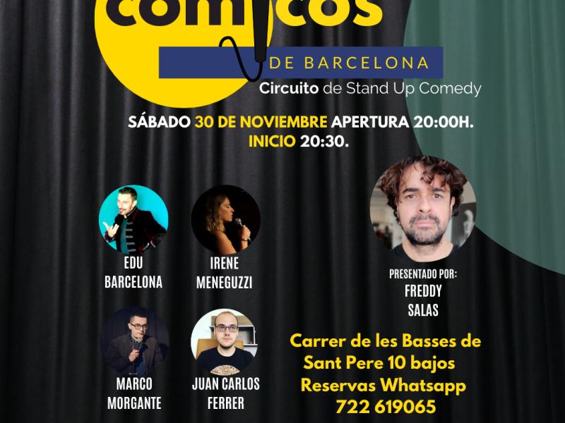 Espectáculo Cómicos de Barcelona 5 € + 2 € (Cuota anual de socio)