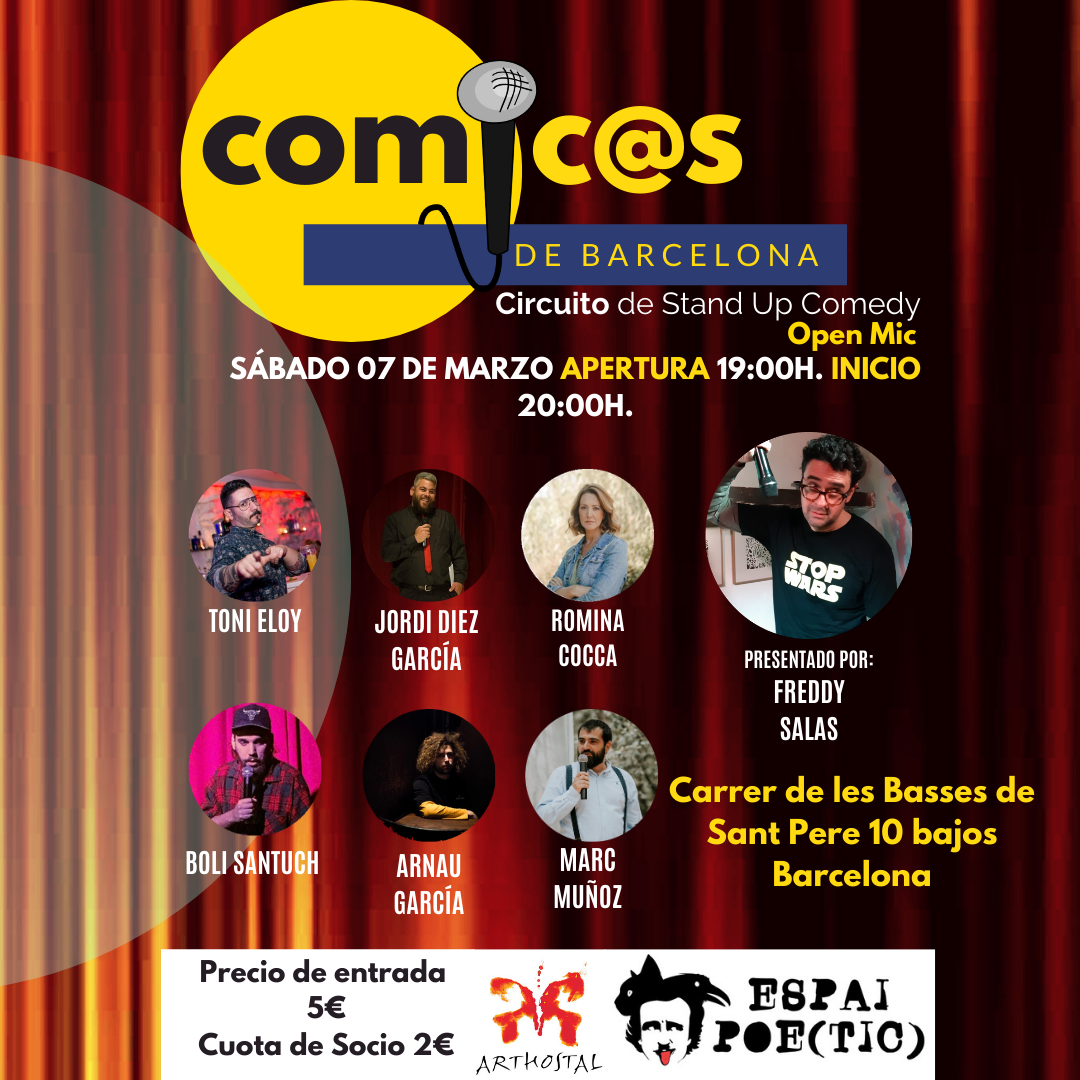 Sábado de Monólogos Cómic@s de Barcelona 07-03-20