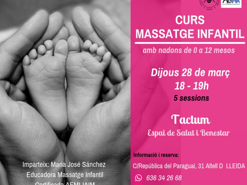 Taller de massatge infantil a Lleida