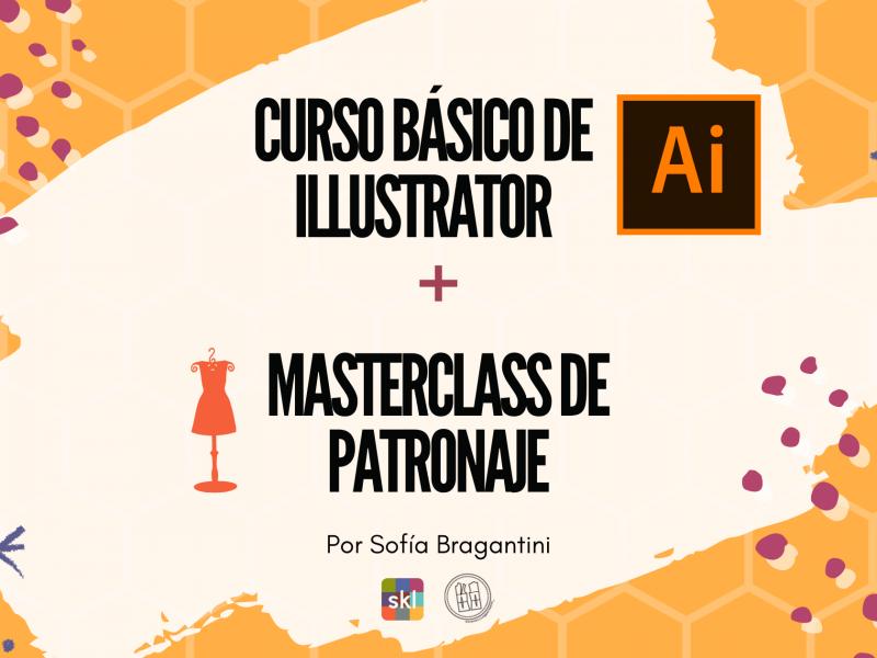 Curso básico de Illustrator + Masterclass de patronaje en Barcelona
