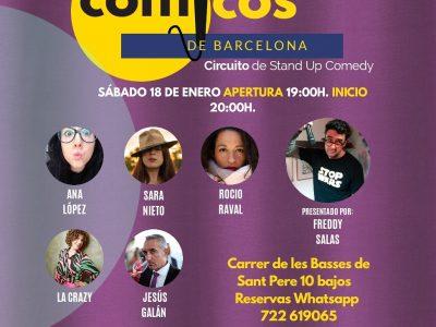 Sábado de Monólogos. Cómicos de Barcelona 18-01-20