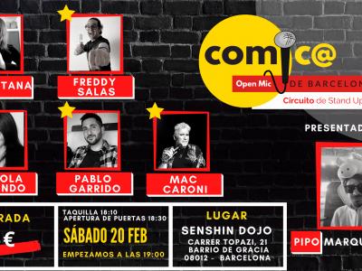 Sábado de Monólogos Cómic@s de Barcelona 20-02-21
