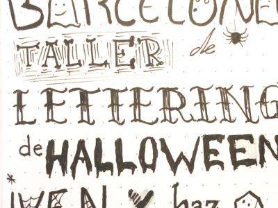 Caligrafía de Halloween