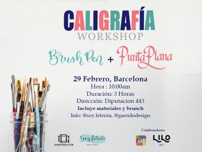 Taller de Caligrafía Básica + Brunch en Barcelona