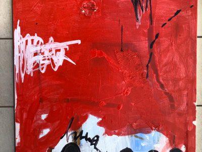 Quadres abstractes per encàrrec a Barcelona