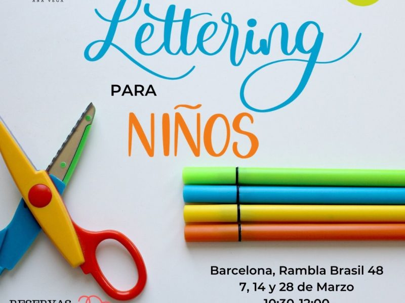 Clases de Lettering para niños en Barcelona