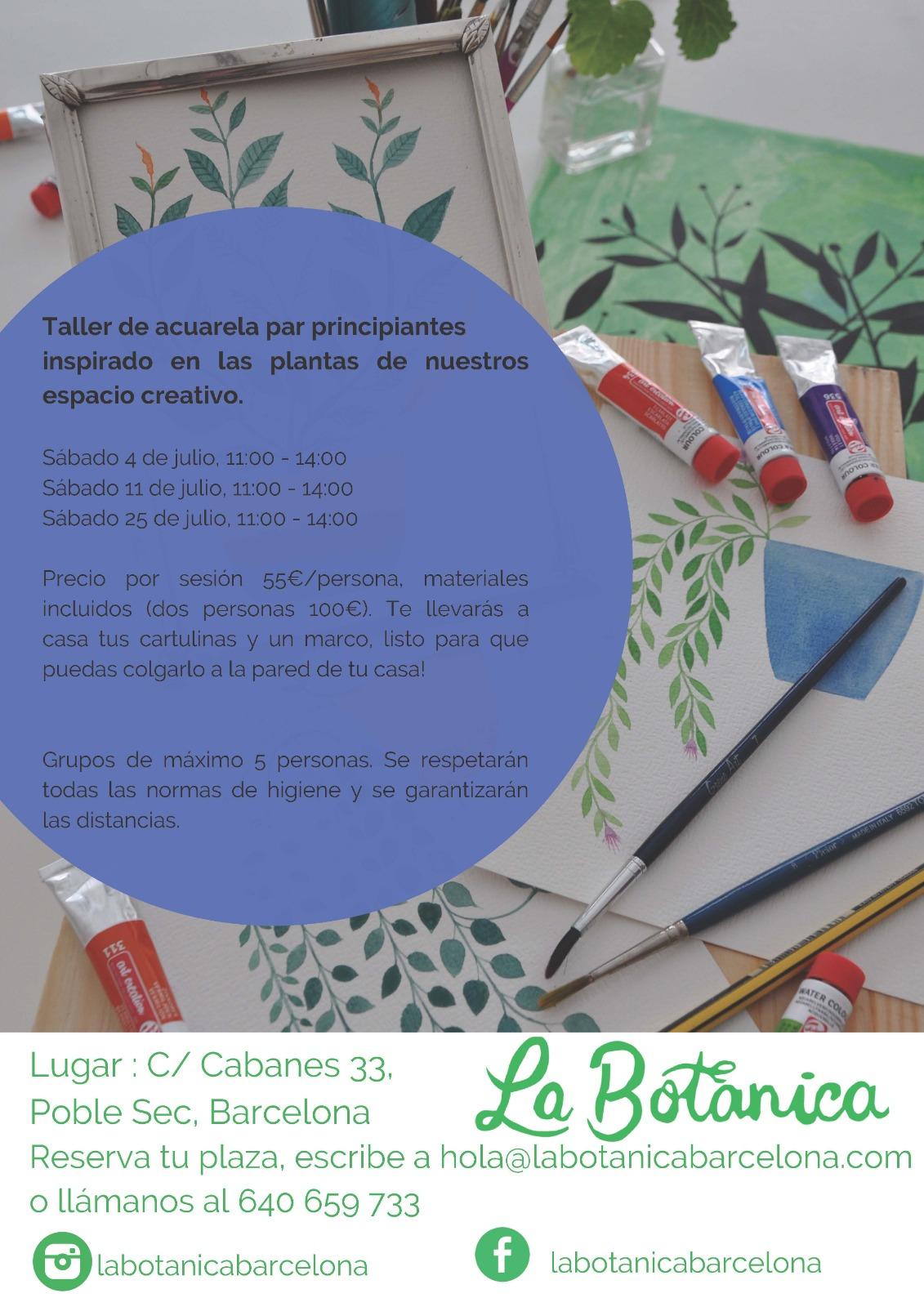 Taller de Acuarela Botánica en Barcelona