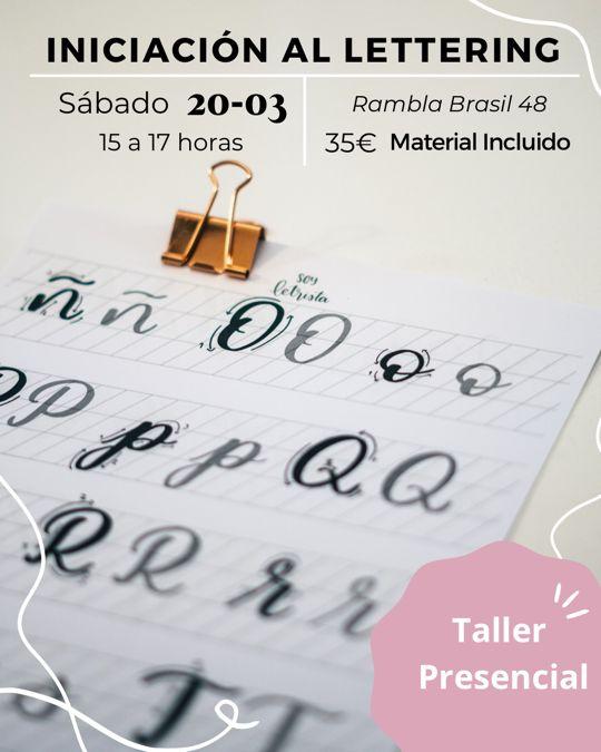 Taller de Iniciación al Lettering en Barcelona