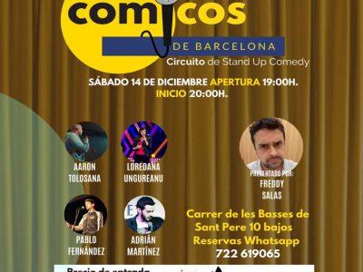 Espectáculo Cómicos de Barcelona 5€+ 2€ (cuota anual)
