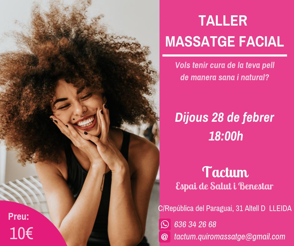 Taller de Massatge Facial