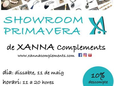 Showroom Xanna complements + vermut de Festa Major al Cafè dels Artistes