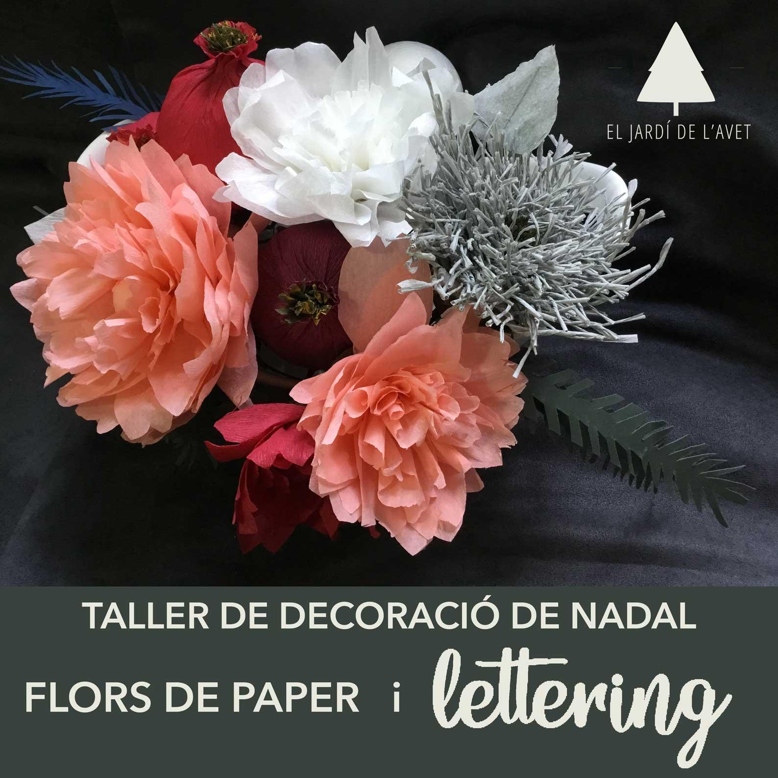 Decoración Navideña |  Lettering y flores de papel